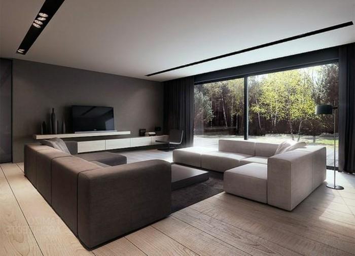 Moderne Wohnzimmer Braun
