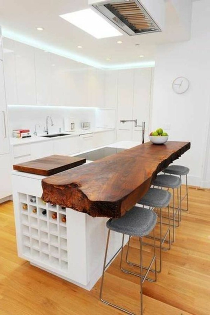 arbeitsplatte holz kuche versiegeln patrial mobel - boisholz, Moderne