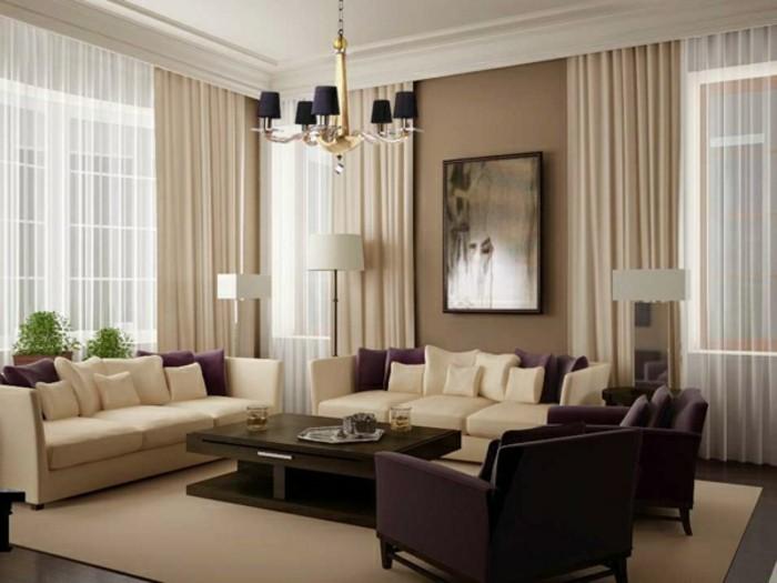 Wohnzimmer Gardinen Ideen fr Ihre Wohnung  Archzinenet