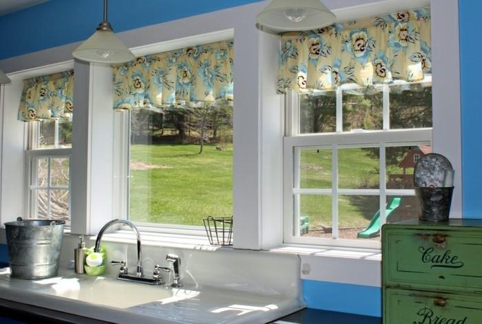 gardinen fuer kuechenfenster ideen f r die. Black Bedroom Furniture Sets. Home Design Ideas