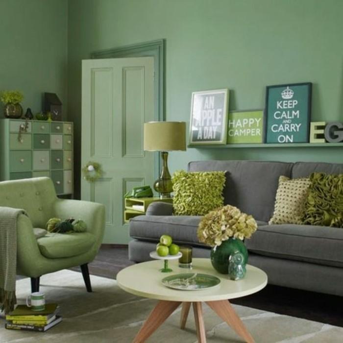grun grau wohnzimmer wohnzimmer deko modern grun - boisholz - Deko Wohnzimmer Grn Beige