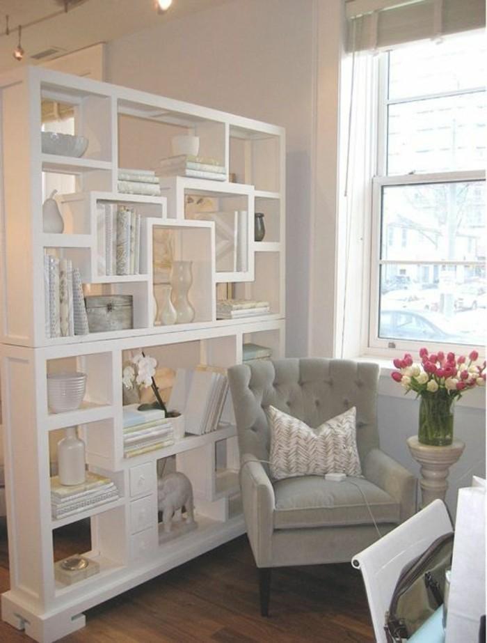 Trennwand Regal 1 Zimmer Wohnung Einrichten Ideen