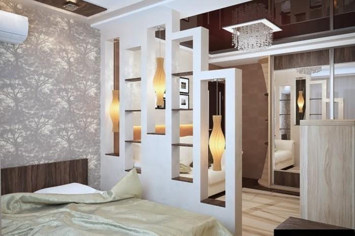 Trennwand Schlafzimmer Wohnzimmer   Rigips Unterkonstruktion ...