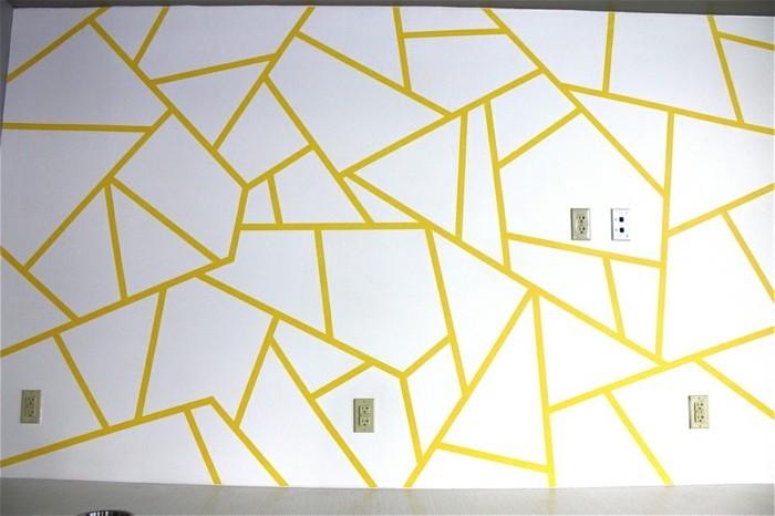 Geometrische Formen  tolle Wandgestaltung mit Farbe  Archzinenet