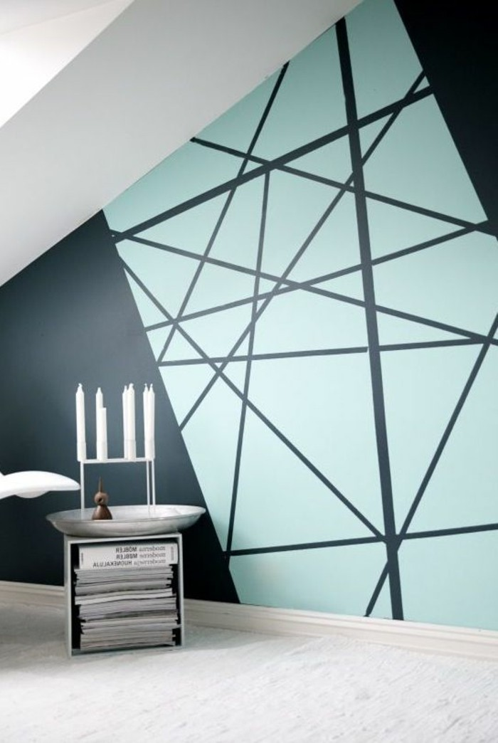 Kreative wandgestaltung mit farbe 18 ideen fur for Wandgestaltung farbe ideen