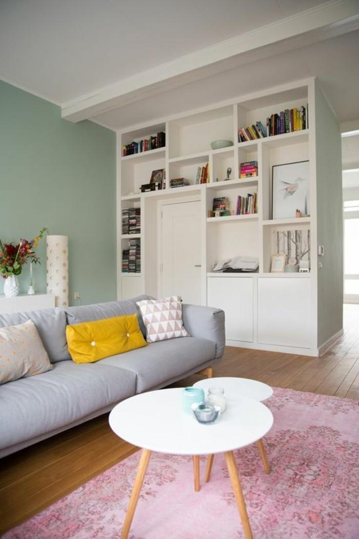 Wohnzimmer Blau Rosa