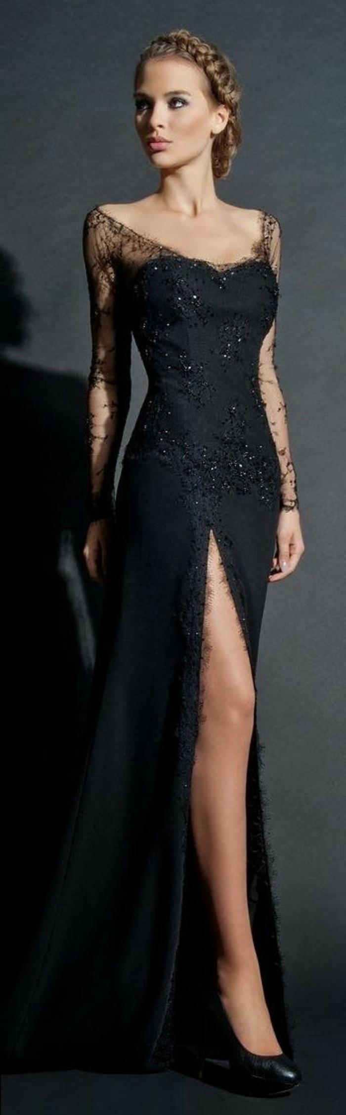 Abendkleider lang mit tattoo spitze  Stylische Kleider fr jeden tag
