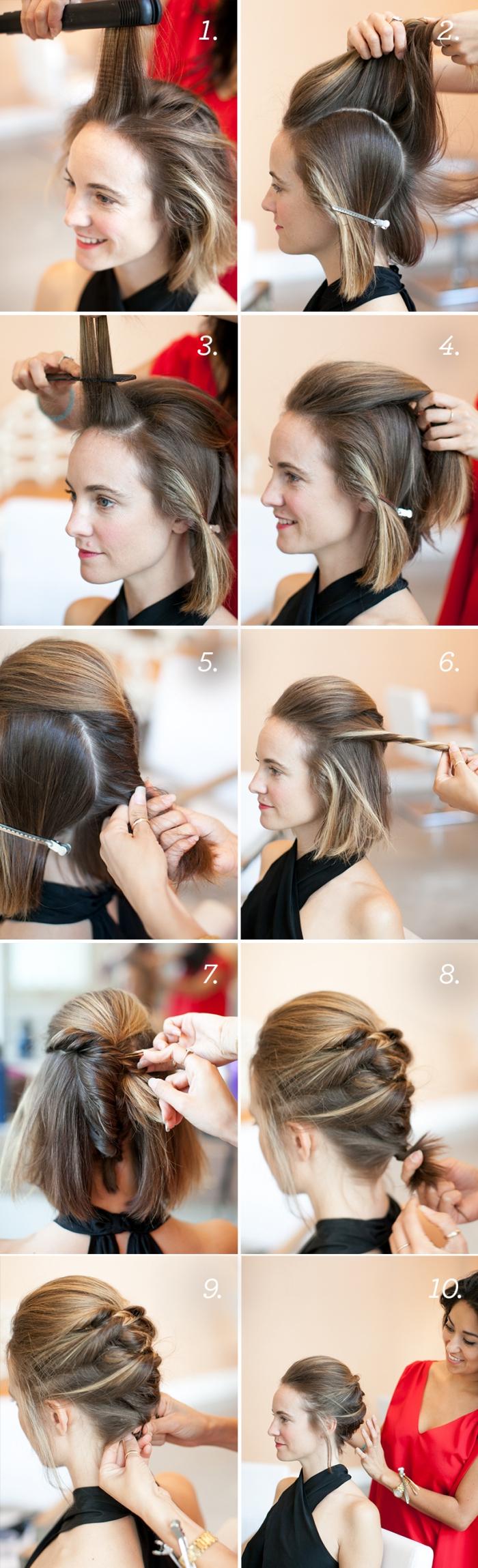 Hochsteckfrisur Schulterlange Dünne Haare Sammlung Von Fuer