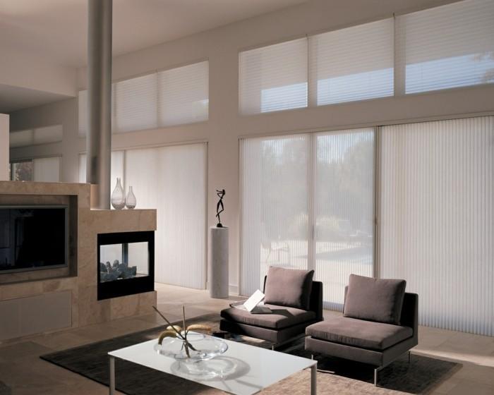 Moderne Fensterdeko fr eine vornehme Atmosphre im Raum