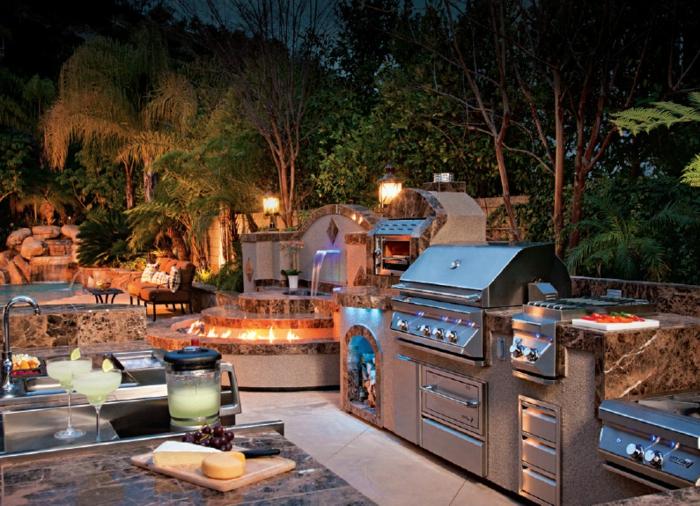 1001 Ideen fr Outdoor Grillkche mit modernem Design