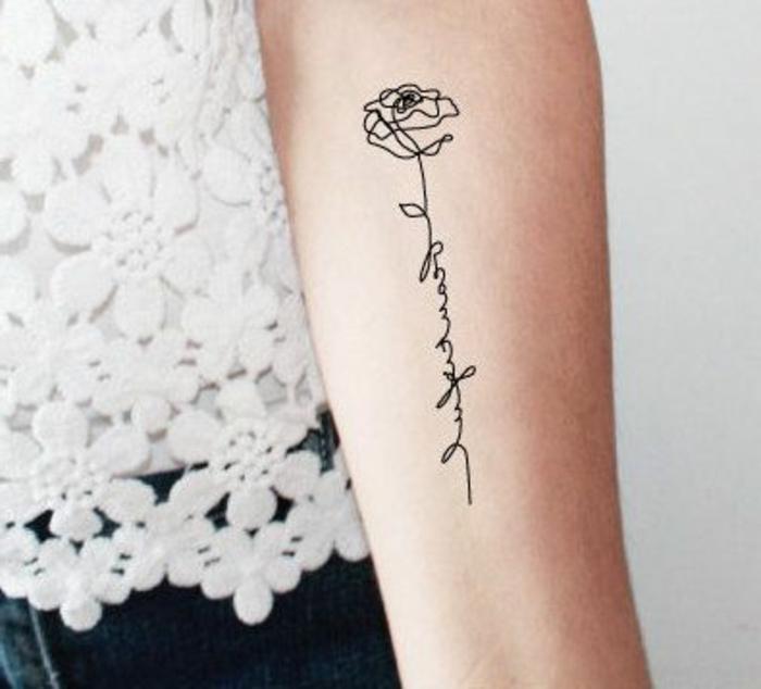 Tattoo Vorlagen Frauen Arm Blumen