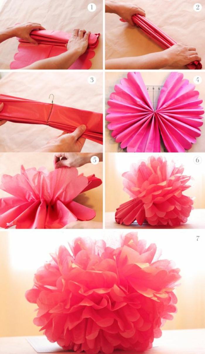 Blumen Aus Papier Basteln Herstellung Von Papier Blumen Basteln