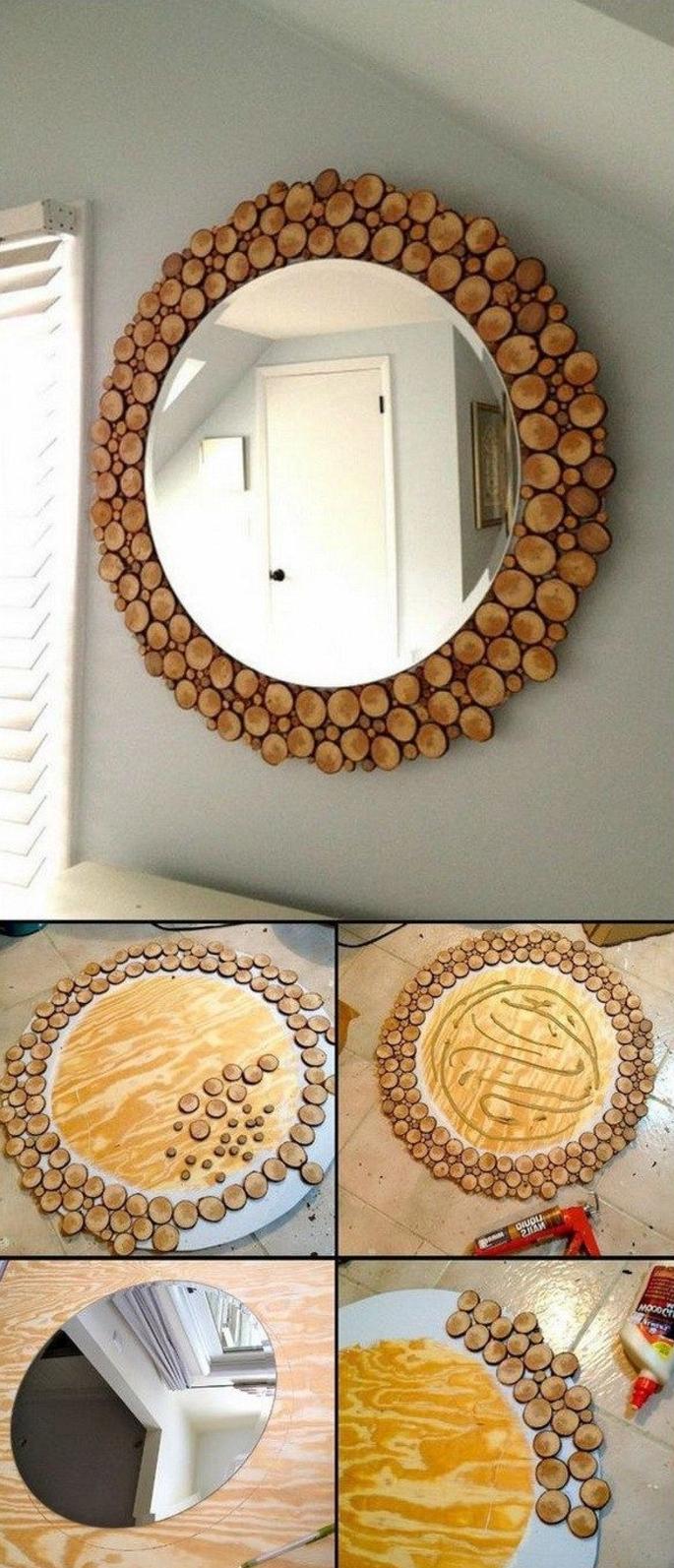 runde spiegel landao wei rund wandspiegel runder spiegel holz bambus deko hell ebay with runde. Black Bedroom Furniture Sets. Home Design Ideas