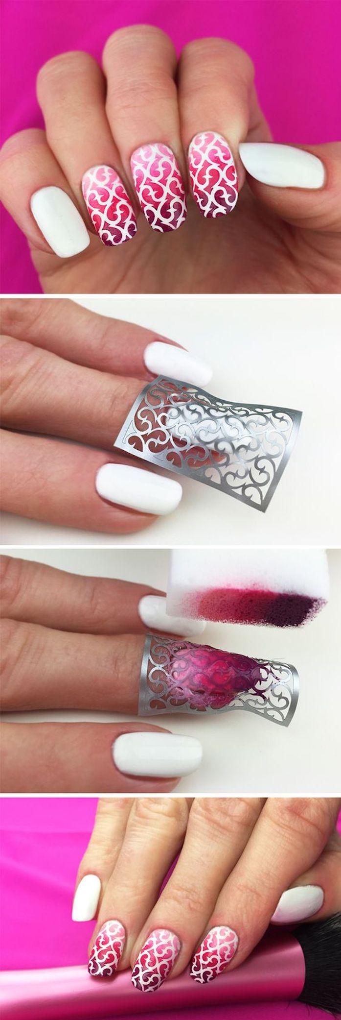 Ideen Für Nägel Wunderschönen Schwarzen Und Roten Nagel Designs