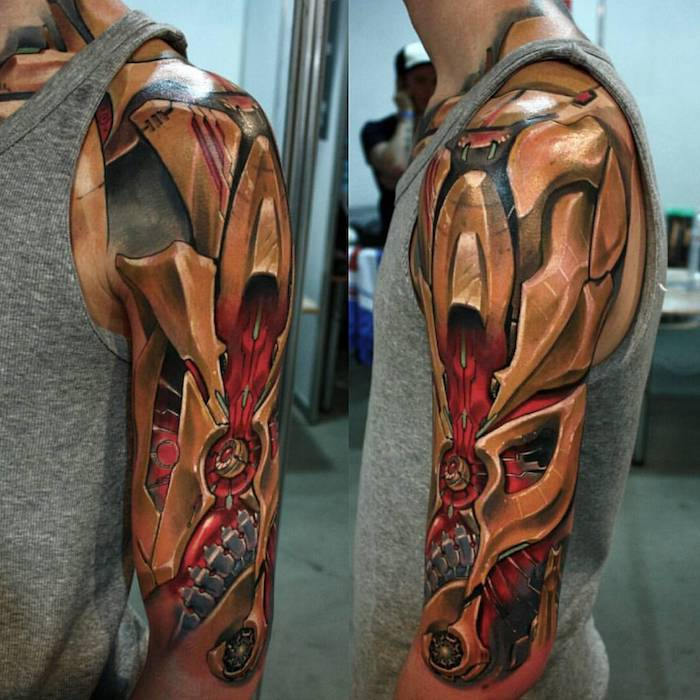 Biomechanik Tattoo Vorlagen Wade