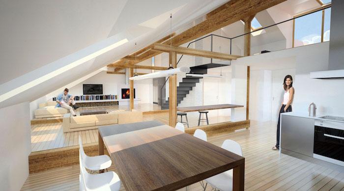1001 Ideen fr die moderne Dachgeschosswohnung