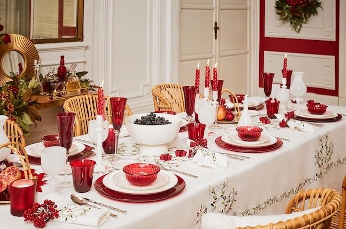 Tisch Hochzeitsdeko Rot Weiss
