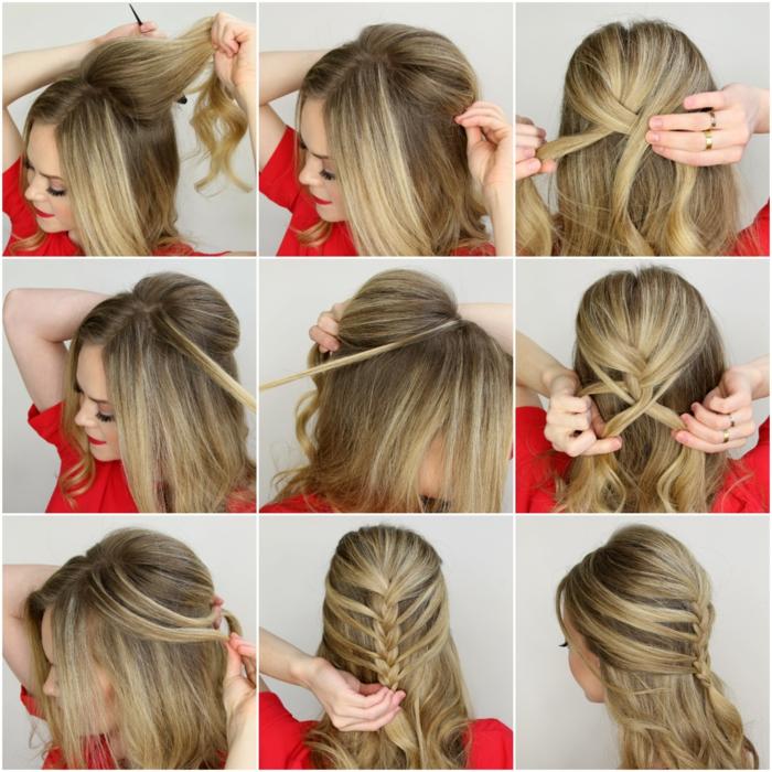 Festliche Frisuren Lange Haare Anleitung