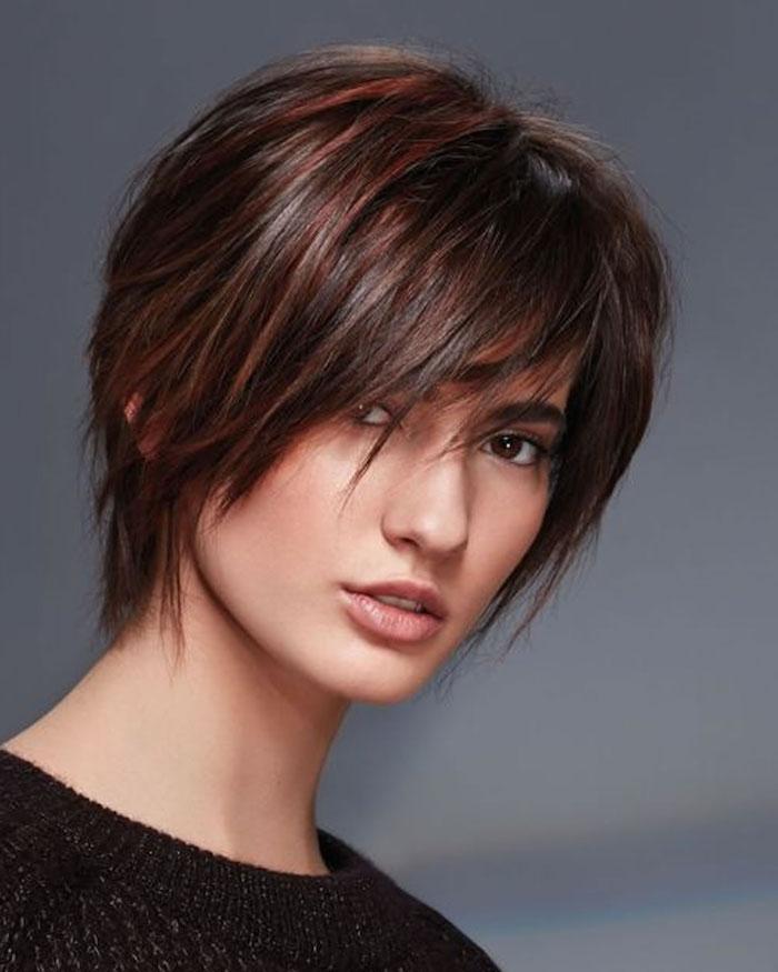 Mit strähnchen roten haare kurze Rote haare