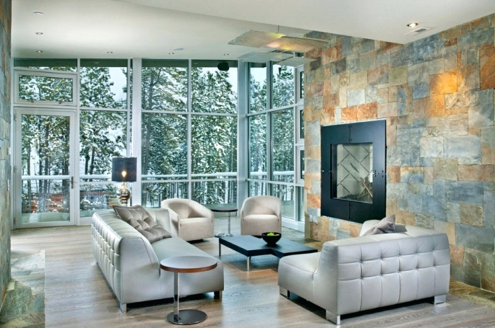 1001  Ideen fr Steinwand Wohnzimmer zum Inspirieren