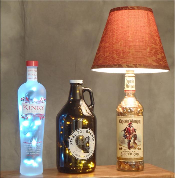 1001  Ideen und Bilder zum Thema Flaschenlampe selber bauen