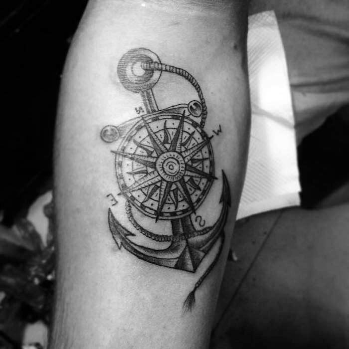 Anker tattoo mann
