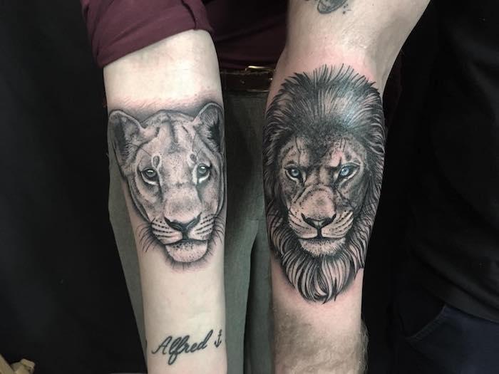 Tattoo löwe männer arm Tattoo Arm
