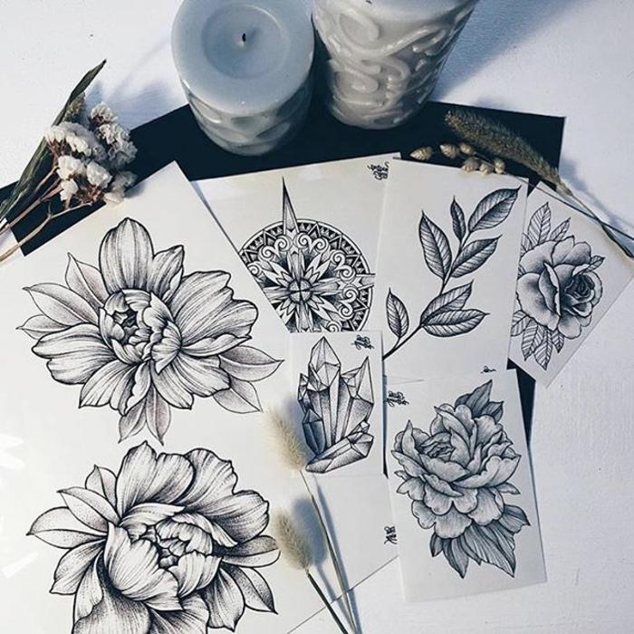 1001 Ideen Für Blumen Tattoo Designs Und Ihre Bedeutungen