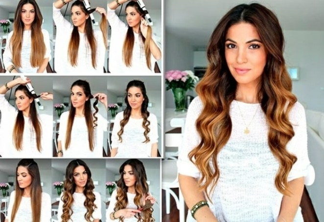 how to make straight hair, curls, balayage hair, beautiful hairstyles for long hair