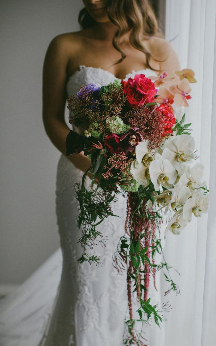 Bridal Bouquet Waterfall  over 50 beautiful examples and