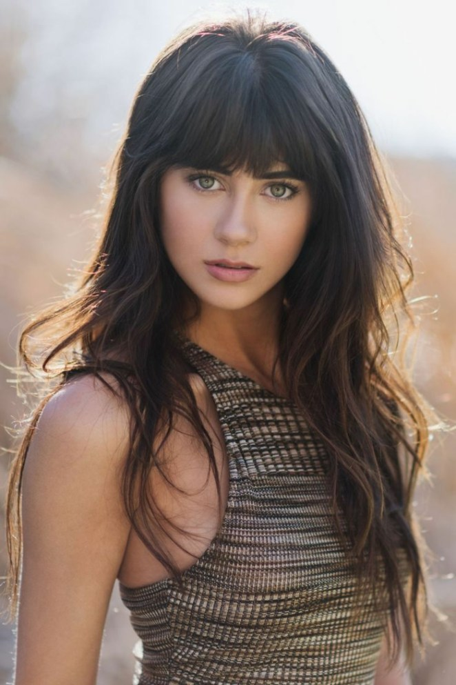 a beautiful girl with long copper brown hair, do hairstyles for long hair yourself