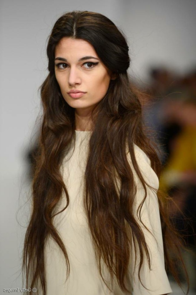 make a model with very long hair, white dress, hairstyles for long hair yourself