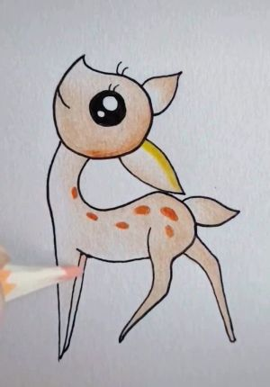 drawing easy drawings pencil cool draw beginners creativity dessin bambi develop colored pencils colorful simple sketch imagination crayon archziner animal