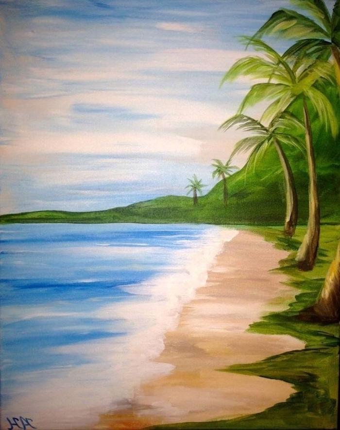 Landscape Drawing Ideas Beach