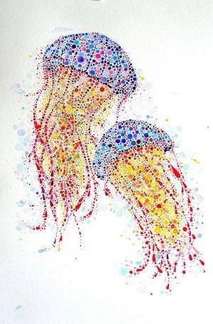 easy drawings jellyfish develop creativity draw imagination step drawing creative painting cool dog colorful archzine watercolor interesting done way 1001