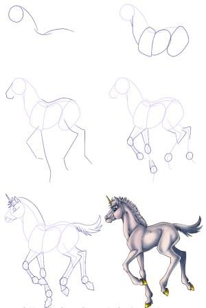 unicorn draw step drawing tutorials easy drawings steps pencil sketch archzine tutorial head 1001 motion drawn painting