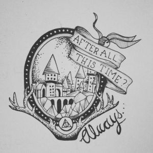 potter harry drawings drawing sketch hogwarts always easy castle realistic pencil dobby tattoos ron weasley super tattoo