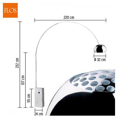 Lampada Arco Flos Prezzo - Idee per interni per la casa, il giardino ...