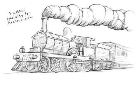 Steam Engine Coloring Pages Steam Engine Coloring Pattern