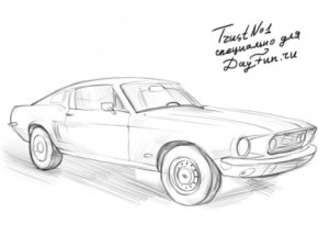 How to draw Ford Mustang step by step | ARCMELCOM
