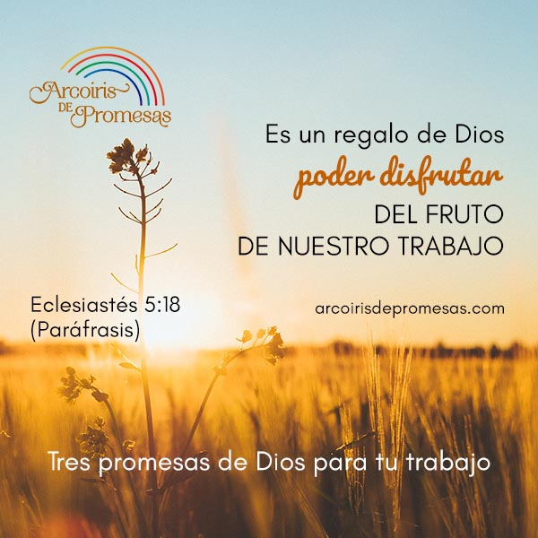 Tres Promesas De Dios Para El Trabajo Arcoiris De Promesas