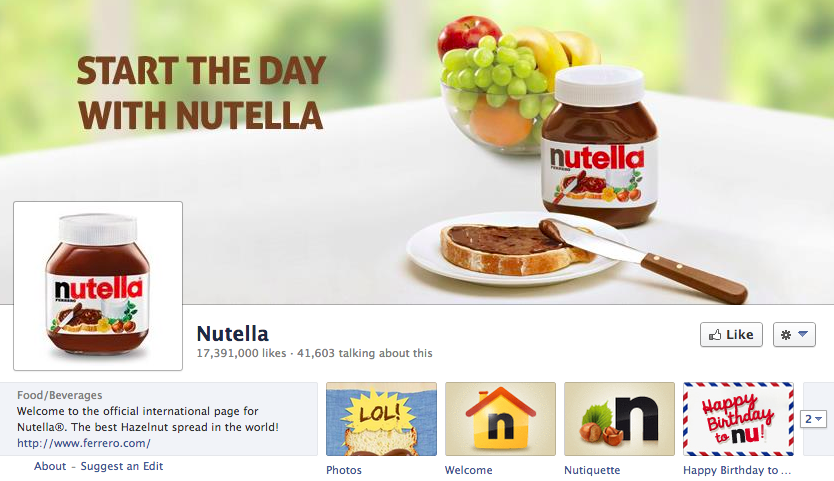Nutella on Facebook