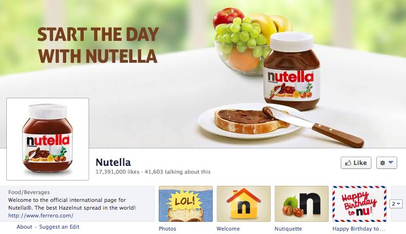 Nutella on Facebook