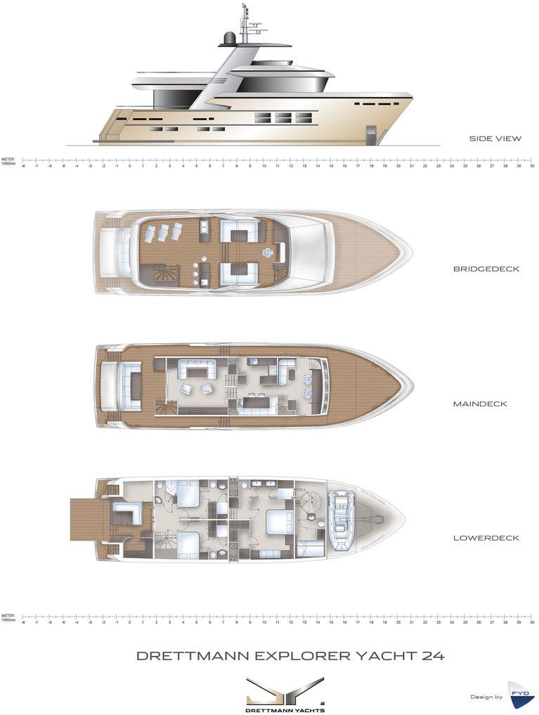Drettman DEY 24 Deckplans Arcon Yachts