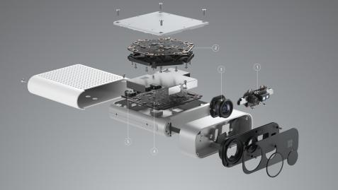What's inside kinect (Figure by Microsoft)