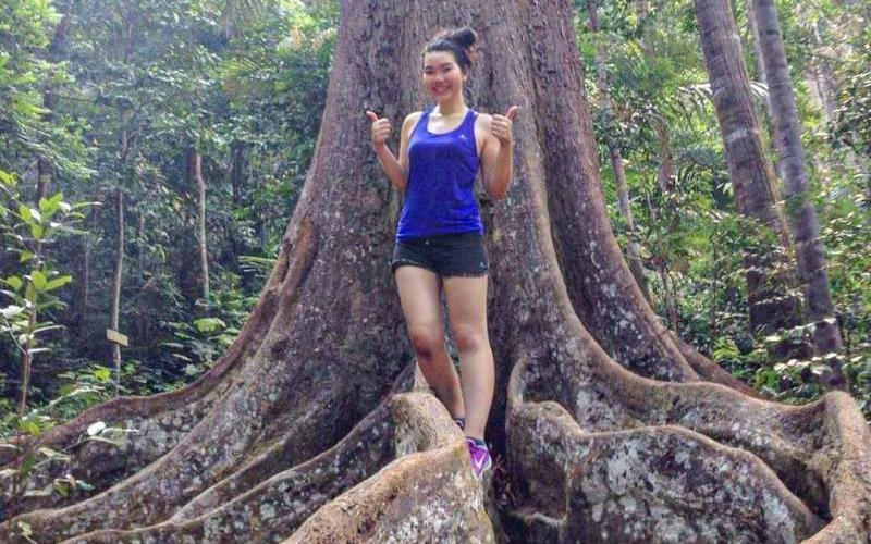Kimmy Walker in a forest