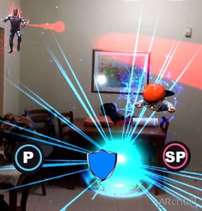 3D Kid character flying in AR