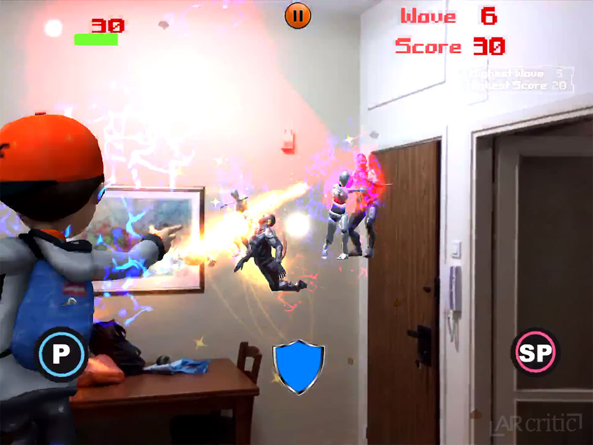 Dragon Power Fighter AR Review - 3rd Person Spellcaster game