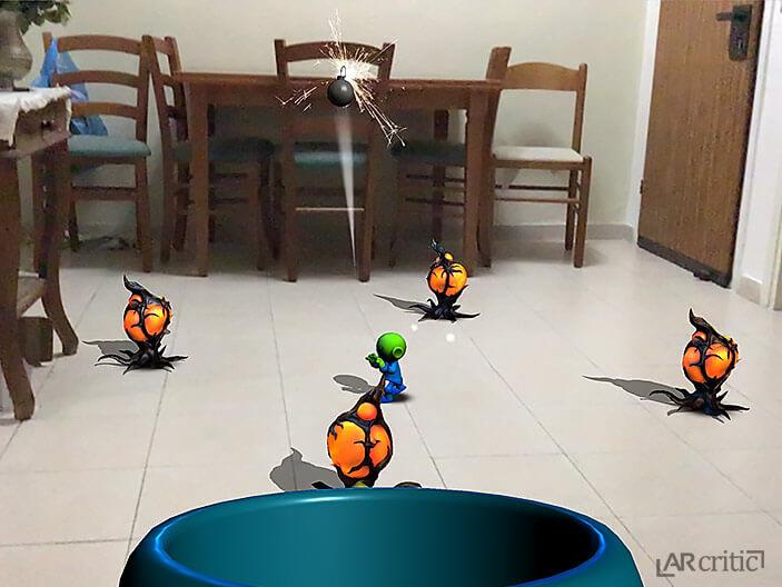 Meddling Martians AR game screenshot