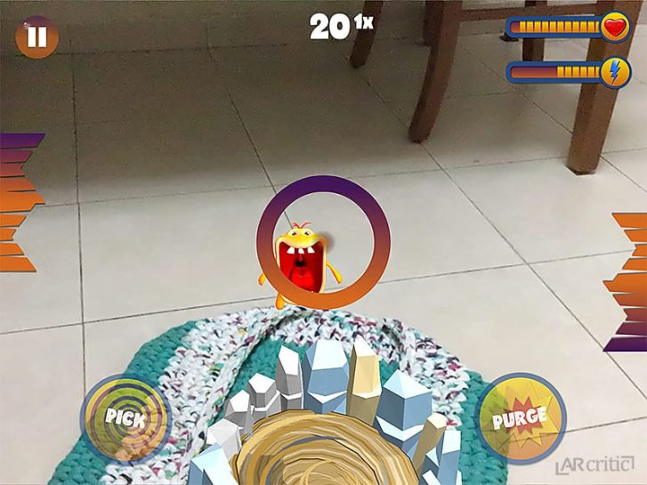 screenshot from the game Crazy Monsters Strike AR
